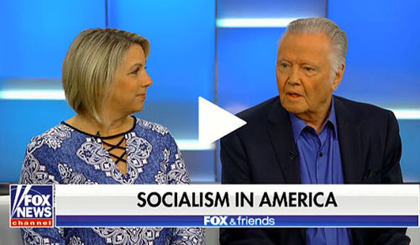 Jon Voight joins Moms for America's stand against socialism in America
