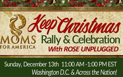 """Watch Live: Moms for America Hold """"Keep Christmas"""" Rally in Washington, DC"""