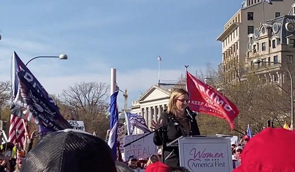 Debbie Kraulidis Speech Freedom Plaza
