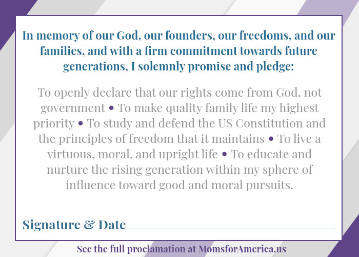 Declarations of Mothers - Pledge Card Back