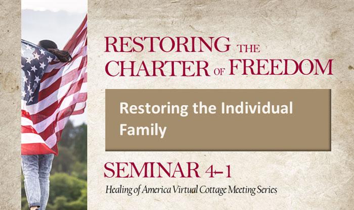 Healing of America Virtual Cottage Meeting - Summer Series - Moms for America - Seminar 4-1