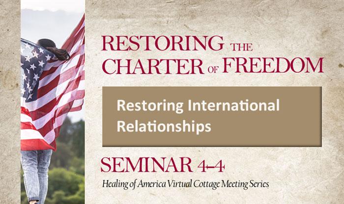 Healing of America Virtual Cottage Meeting - Summer Series - Moms for America - Seminar 4-4